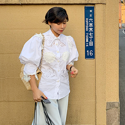 Dolce embroidery blouse